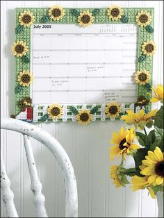 Summer Calendar (Plastic Canvas)