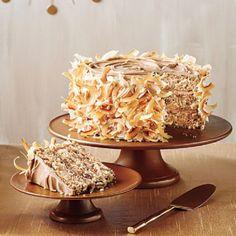 Torta de caramelo y crema italiana