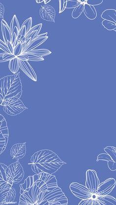 Blue lavender purple white floral botanical iphone wallpaper background phone lockscreen