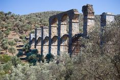 """theancientworld: """" Near the village of Moría, Roman remains of an aqueduct, built at around 200 CE """""""