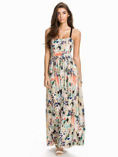 Sfcathy Long Strap Dress - Selected Femme - Patterned - Dresses - Clothing - Women - Nelly.com