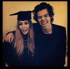"""Harry and Gemma! Harry posted this on his Instagram and said: """"My sister graduated today. She's all clever and that."""""""