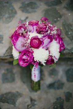 Gorgeous pink bouquet: http://www.stylemepretty.com/little-black-book-blog/2015/04/22/romantic-st-john-destination-wedding/   Photography: Elisha Orin - http://www.elishaorin.com