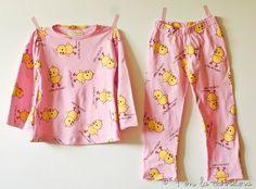 Cose una pijama con tela en estampados, qué tal si usas una con sus personajes favoritos #yolohice #diversion #peques