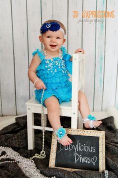 Baby girl photo shoot, baby headbands, baby photo prop, baby diva, Blue Baby Headbands Newborn Headband Newborn by BabyliciousDivas, $7.25