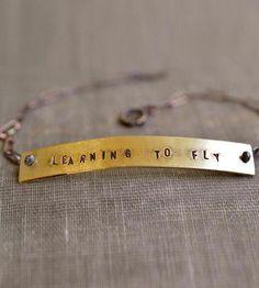 Custom Stamped Phrase Bracelet