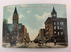 Wate St South From E North St Decatur IL Postcard  1909  | eBay