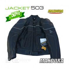 € 129 Giacca Moto Maxdura In Pelle