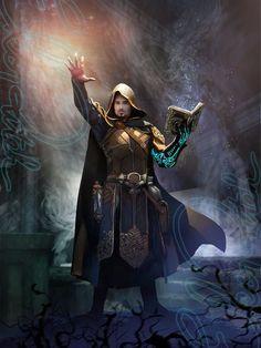 M wizard cleric med armor cloak magic book scrolls illustration fantasy, high fantasy, fantasy Fantasy Wizard, Fantasy Male, High Fantasy, Fantasy Warrior, Fantasy Rpg, Medieval Fantasy, Dark Wizard, Fantasy Fiction, Fantasy Concept Art
