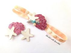 Shell+and+Starfish+Hair+Clip+and+Headband+by+sherbetwithsprinkles