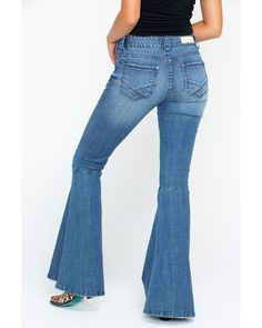 a0bf7a31ff8 Rock   Roll Cowgirl Women s Midride Flare Denim Jeans
