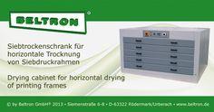 Trockenschrank für horizontale Trocknung von Siebdruckrahmen