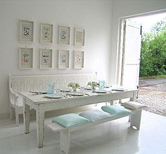 The Beach Studios: What a fabulous white dinning area