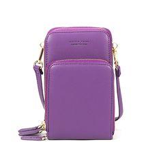 05c2aef600ff Women Solid PU leather Clutch Bag Card Bag Phone Bag Crossbody Bag