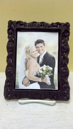 Our chocolate frame is the tastiest way to display the new MR. and MRS. for everyone to see! #weddings #chocolate