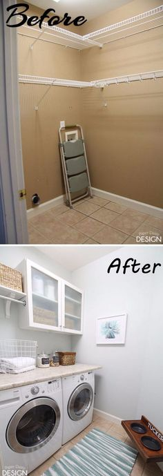 Tiny Laundry Makeover on a Budget.