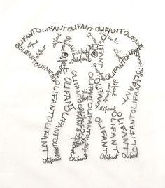 Elephant calligrams!