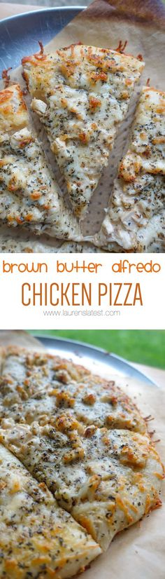 Brown Butter Alfredo Chicken Pizza... Get the most delicious dinner of all time on the table in just 30 minutes!