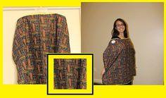 Nursing Cover  Brown Multi Print by MommyzBIB on Etsy, $12.00