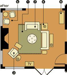 furniture arranging illustrations