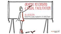 Trainer Factory: Visual Facilitation & Graphic Recording In diesem 2-tägigen Workshop erlernen fortgeschritte  Visualisierer die Kunst der Live-Protokollierung an  der großen Fläche (Flipchart, Pinnwand, Graphic  Board). Souverän und gewusst wie. Darüber hinaus  nutzen wir so genannte Templates, das heißt visuelle  Vorlagen, für die effiziente und nachhaltige  Interaktion. Spaß und Action pur!