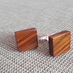 Cherry Wood Cufflinks for Hipsters Exclusive Wooden Gift for Man Unisex cufflinks Unique Reclaimed Wooden Cufflinks Wedding Mens Cufflinks