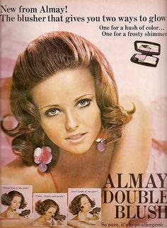 Cheryl Tiegs in 1966 Sears catalog: Cheryl Tiegs in 1968 ad for Bonne Bell: Cheryl Tiegs in ad for Almay cosmetics: Cheryl Tiegs in 1972 ad for Revlon cosmetics: Cheryl Tiegs in 1977 Cover Girl ad: Cheryl Tiegs in. Vintage Makeup Ads, Retro Makeup, Vintage Beauty, Vintage Ads, 1960s Makeup, Funny Vintage, Vintage Room, Vintage Models, Vintage Dress