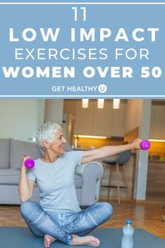 Exercise not only keeps you feeling and looking younger, but actually physically slows down the aging process. Here are 11 low-impact exercises that will work every muscle group and give you a good total body workout. 5 Minute Abs Workout, Best Ab Workout, Ab Workout At Home, Boxing Workout, Killer Workouts, Easy Workouts, Core Workouts, Healthy Exercise, Get Healthy
