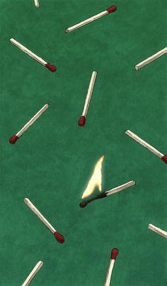 Matchsticks pattern.