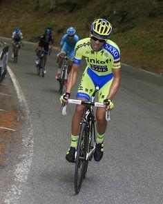 Alberto Contador attacks Aru and POrte (Bettini Photo)