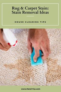 Carpet stain removal tips and ideas that will help you clean up many common stains. Check the article for details. House Cleaning Tips, Cleaning Hacks, Stain Remover Carpet, Removing Carpet, Carpet Stains, Clean Up, Clean House, Rugs On Carpet, Check