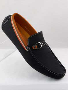 Mens Shoes Casual Driving Moccasin Loafer Slip-on Synth Leather.