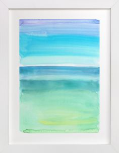 """Emerald Green And Blue Abstract"" - Available in a variety of frame and size options"