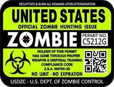Zombie Apocalypse Party, Zombie Apocolypse, Zombie Party, Zombie Wedding, Colorado Hunting, Texas Hunting, Hunting License, Zombie Birthday, Nerf Party