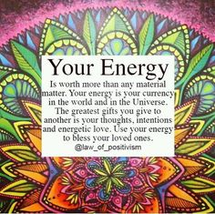 That is the way it should be... My energy... movement with heart and soul ONLY... To put your heart and soul into it multiplies it exponentially... anything less is shortchanging both yourself and others... <3