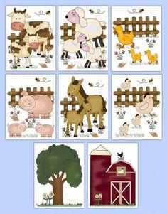 Farm Animal Nursery Decals Baby Boy Barnyard Wall Art Stickers #decampstudios