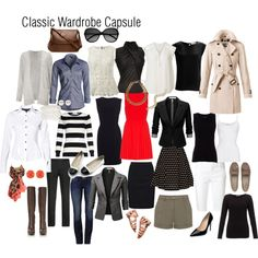 Classic Wardrobe Capsule by omeriana on Polyvore featuring Alice + Olivia, Alexander Wang, NIC+ZOE, Witchery, Jigsaw, French Connection, Bouchra Jarrar, rag & bone, American Vintage and Burberry
