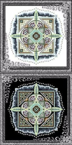 Chatelaine Designs' Frosty Knotgarden. The corner filigree is a frame, not part of the design. Have to buy this chart this month if I want it soon.