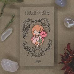 Tulip Flower Friend Pin