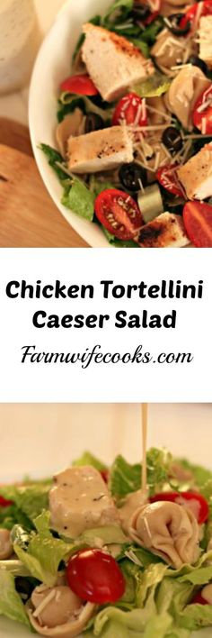 This Chicken Tortellini Caesar Salad is the perfect twist on the classic Caesar Salad that will have both kids and parents asking for more!