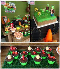 Zombies themed birthday party via Kara's Party Ideas… Zombie Birthday Parties, 5th Birthday Party Ideas, Fun Party Themes, Zombie Party, Valentines Day Party, Boy Birthday, Plants Vs Zombies, P Vs Z, Plantas Versus Zombies