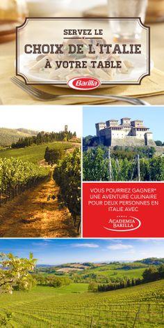 Testez votre QI Barilla pour une chance de GAGNER* une aventure culinaire pour 2 en Italie avec l'Academia Barilla!