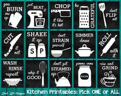Het Decor van de keuken. Keuken van LittleLifeDesigns op Etsy