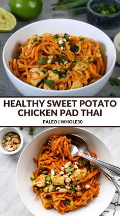Sweet Potato Recipes Healthy, Healthy Eating Recipes, Healthy Snacks, Vegetarian Recipes, Cooking Recipes, Healthy Good Food, Sweet Potato Spiralizer Recipes, Clean Eating Dinner Recipes, Healthy Diners