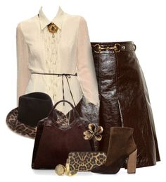 A fashion look from December 2015 featuring gucci skirt, suede ankle booties and handbags totes. Nancy Gonzalez, Stella Mccartney, Polyvore Fashion, Christian Louboutin, Gucci, Fashion Sets, Giambattista Valli, Lady, Brown