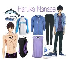 """Haruka Nanase - Free! Iwatobi Swim Club"" by alt-jay ❤ liked on Polyvore"