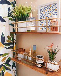 Modern Wall Decor, Modern Art, Chic Bathrooms, Small Bathroom, Modern Boho Bathroom, Neutral Bathroom, Hipster Bathroom, Peach Bathroom, Bathroom Shelf Decor