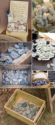 30 Wishing Stones wedding guest book alternative guest sign non traditional guest book