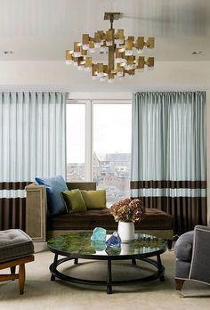 Living room + brown + gray + blue #Frank Roop