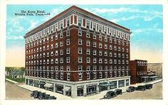 Wichita Falls Texas TX 1920s Kemp Hotel Collectible Antique Vintage Postcard